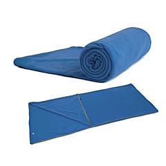 Houd Warm - Polyester - Slaapzak ( Blauw/Oranje )