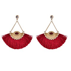 Earring Drop Earrings Jewelry Women Wedding / Party / Daily / Casual / Sports Alloy / Rhinestone / Fabric 2pcs
