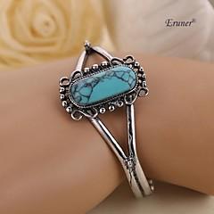 Eruner® 2015 New Arrival Movie Twilight Bella Bangle Vintage Silver Plated Natural Turquoise Alloy Bracelet For Women