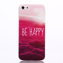 Be Happy Pattern TPU Soft Cover for iPhone 5/5S