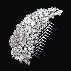Bruiloft/Feest - Haarkammen/Tiara'S ( Kristal/Strass/Verzilverd , Zilver )