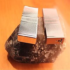 cubistes ondulées rechargeables briquets métalliques à arc électrique à impulsions or argent