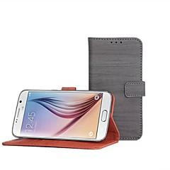 Teléfono Móvil Samsung - Carcasas de Cuerpo Completo/Fundas con Soporte - Diseño Especial - para Samsung Samsung Galaxy S6 ( Multi-color , Cuero PU )
