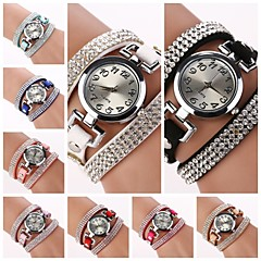 Women's Round  Dial  Diamante  Circuit Band Quartz  Watch (Assorted Color)C&d184