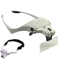 Glasses Style Headband Style Magnifier 1.0X / 1.5X / 2.0X / 2.5X / 3.5X with 2 LED Light NO 9892B1