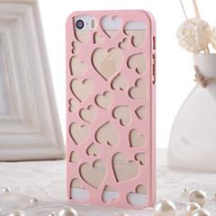 패턴 아이폰 5 / 5S에 대한 (모듬 색상)을 중공 PC의 자료 보호 쉘을 발산 사랑