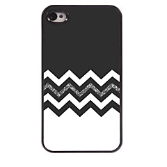 The Black and White Design Aluminum Hard Case for iPhone 4/4S