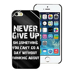 Never Give Up Design PC Hard Case for iPhone I4
