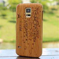 com diferentes padrões reais de madeira natural de bambu de madeira cobertura caso difícil para Samsung Galaxy i9600 s5 cores sortidas