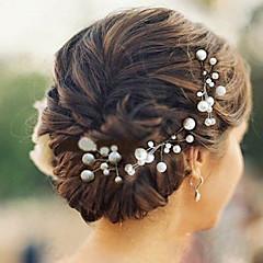 Kobiety Flower Girl Perła Winieta-Ślub Piękny Przypadkowy Spinka do włosów