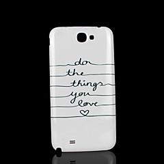 lause kuvio kansi fo Samsung Galaxy Note 2 n7100 tapauksessa