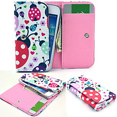 Cute Animal PU Leather Wallet style Full Body Case and Card Slot for Samsung Mobile Size<12.3*6.5*2