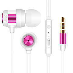 JTX-702 3.5mm Noise-Cancelling Mike In Ear Earphone for Iphone and Other Phones(Assorted Colors)
