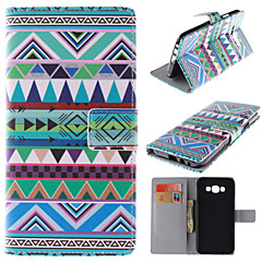 Varten Samsung Galaxy kotelo Korttikotelo / Tuella / Flip / Kuvio / Magneetti Etui Kokonaan peittävä Etui Linjat / aallot Tekonahka
