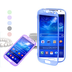 Dust flip translucent TPU Case for Samsung S4 I9500(Assorted Colors)