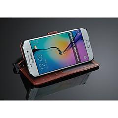 Fashion® Luxusbrieftasche Ledertasche mit Kartenhalter für Samsung-Galaxie s6 Rand (Farbe sortiert)