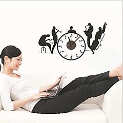 removível diy adesivo de parede relógio