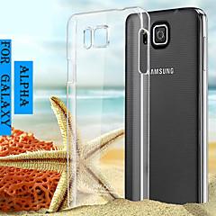 Varten Samsung Galaxy kotelo Läpinäkyvä Etui Takakuori Etui Yksivärinen PC Samsung Alpha