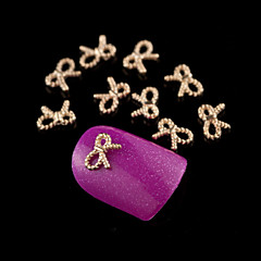 M0214 10pcs Tiny Gold Bowknot Rhinestones 3D Rhinestone DIY Accessories Nail Art Decoration