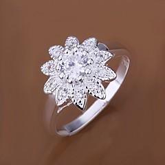 Diamond Sunflower 925 Silver Statement Rings (1pc)