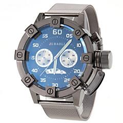 mannen militaire ontwerp zwarte stalen band quartz horloge