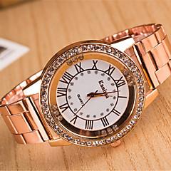 yoonheel Dames Modieus horloge Vrijetijdshorloge Gesimuleerd Diamant Horloge Kwarts imitatie Diamond Metaal Band Zilver Goud Goud Rose