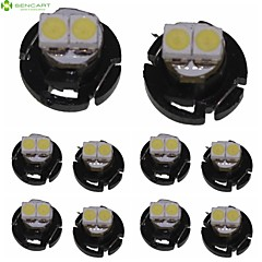 10 X T4.2 2LED 3528SMD Cool White Light  for Car Dashboard Light Bulb (DC12-16V)