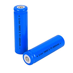 4800mAh 3.7V 18650 Rechargeable Lithium Ion Battery (2pcs)