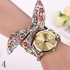 nova moda relógios mulheres se vestem relógio relógio de pulso menina tira de pano arco nacionalidade