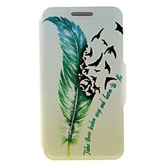 For Samsung Galaxy Note Kortholder / Med stativ / Flip Etui Heldækkende Etui Fjer Kunstlæder SamsungNote 5 Edge / Note 5 / Note 4 / Note