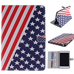 The American Flag Design PU Leather Full Body Case with Stand and Card Slot for iPad mini 1/2/3