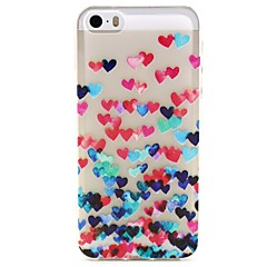 Love Pattern TPU Relief Back Cover Case for iPhone 5