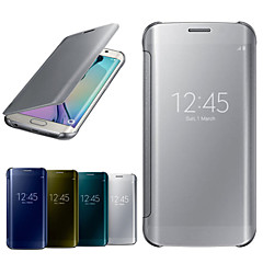 GYM Luxury Mirror Window Full Body Case for Samsung Galaxy S6 Edge G9250(Assorted Colors)