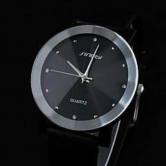 Sinobi Men's Conical Glass Dial PU Band Quartz Analog Wrist Watch (Assorted Colors)