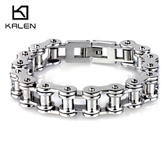 Kalen Men's Jewelry Stainless Steel Bicycle Chain Bracelets