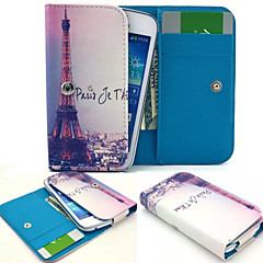 Paris Leather Wallet style Full Body Case and Card Slot for Iphone Mobile Size<12.8*6.8*2.1