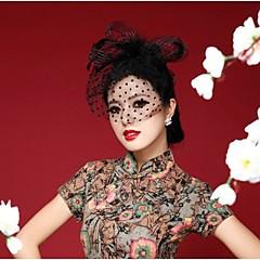 Γυναικείο Φτερό Headpiece-Γάμος Ειδική Περίσταση Καθημερινά Υπαίθριο Διακοσμητικά Κεφαλής Λουλούδια Καπέλα Βέλα κλουβιού πουλιών 1 Τεμάχιο
