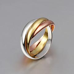 Pierścionki Frędzle / Crossover / Modny Ślub / Impreza / Codzienny / Casual BiżuteriaSrebro standardowe / Pozłacane / Pokryte różowym