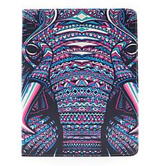 norsu kuvio pu nahkakotelo kansi jalusta ja kortin haltijan iPadille 1/2/3/4