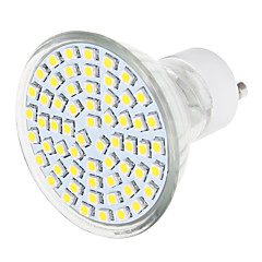1 pcs 7.5 W 60 LED X SMD 3528 570 LM 3500K / 6000K Warm White / Natural White GU10 Spot Lights (110-240V)