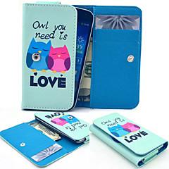 aimer hibou pu style portefeuille en cuir pleine cas de corps et fente pour carte iphone taille portable