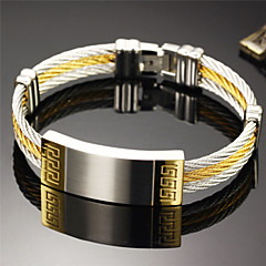 Super Cool Male Hand Catenary of Fine Steel Personality is Made of High-quality Goods Great Wall Lines Bracelet