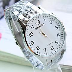 Men's Round Dial Steel Strap Fashion Business Quartz Watch