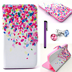 Cherry in Full Bloom Pattern PU Leather Case with Anti-dust Plug and Stylus for Samsung Galaxy Grand Prime G530H