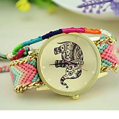 elefante tejer nacional Corea del Sur estilo de la cadena de las mujeres de moda reloj de bricolaje