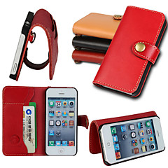 iCoverCase® Retro Genuine Cowhide Leather Flip Cover Wallet Card Slot Case with Stand for iPhone 5/5S(Assorted Colors)