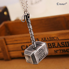 Euner® Movie Jewelry Thor Hammer Necklace Thor The Dark World BIG Pendant Necklace for Men