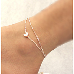 Women's Anklet/Bracelet Alloy Unique Design Fashion Heart Jewelry Golden Women's Jewelry Daily Casual Christmas Gifts 1pc