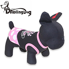 Cat / Dog Dress Black Dog Clothes Summer Polka Dots