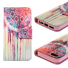 sonhar padrão mundial caindo prova estojo de couro pu com suporte e cartão de solt para iphone5 / 5s